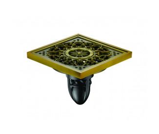 Трап для душа MAGdrain FC08Q50-H (100x100x10 мм,  бронза полированная, латунь)